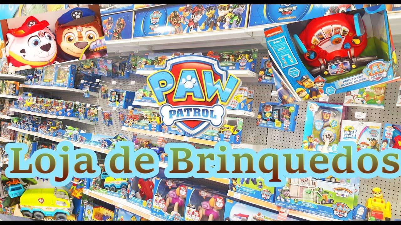 Loja De Artesanato Nos Estados Unidos ~ Passeio na loja de brinquedos com muita Patrulha Canina