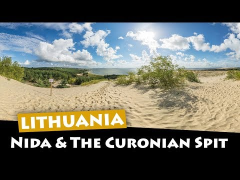 Nida Lithuania - Exploring the Curonian Spit sand dunes and beach to the Russian border