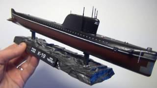 Советская атомная подводная лодка К-19, обзор пластиковой модели в масштабе 1/350 от Звезды