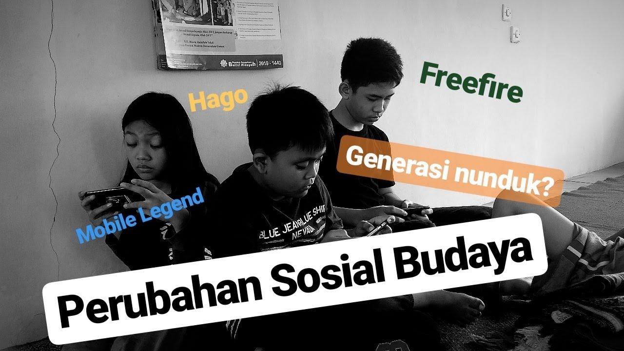 Perubahan Sosial Budaya Socio Cultural Change Youtube