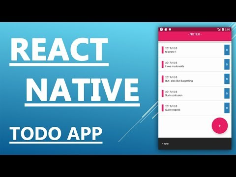 How to make an app - React Native Tutorial - Create a Todo tasks app in 25 minutes