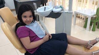 شفا أول مرة تخلع سنها عند دكتور الاسنان !!!