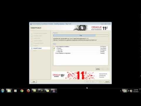oracle database 11g  for windows 7 32 bit