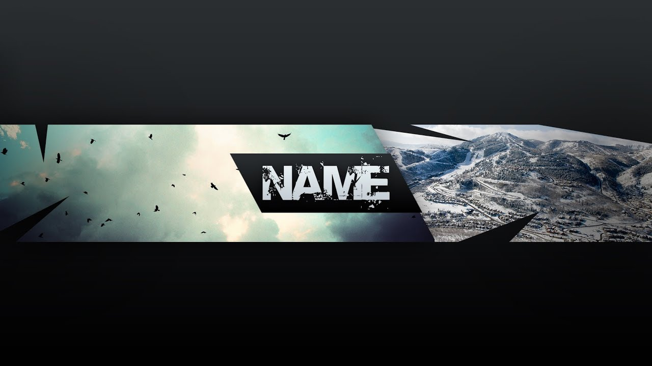 Free Banner Template For Youtube Channel 9 Photoshop I Download