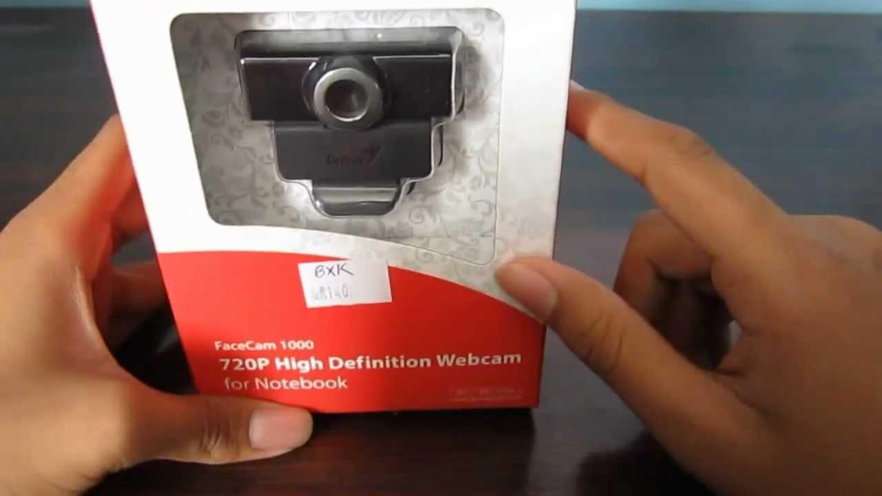 f127a486686 Genius Facecam 1000 HD Webcam Unboxing - YouTube