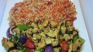 Bariis iyo Chicken Suqaar (Rice and Chicken Dish) - Ep.147