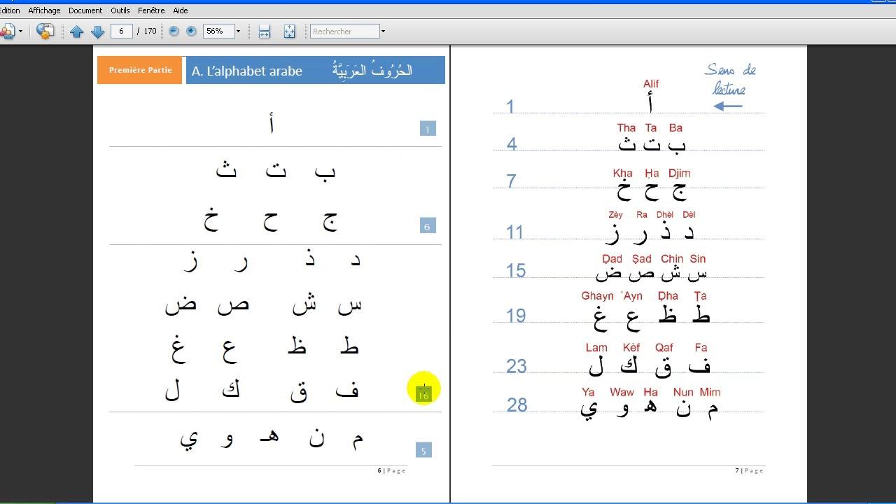 Meilleur de tous Apprendre à lire l'arabe en 10 leçons | Cours 1 | L'alphabet arabe  UE76