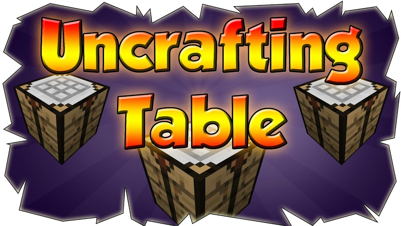 Uncrafter Mod Reversed Crafting Minecraft Mod