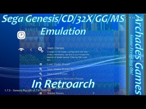 How to Setup Retroarch for Sega Genesis/CD/32X/GG/MS