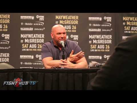 Thumbnail: DANA WHITE RESPONDS TO FANS HATING & PROTESTING MAYWEATHER VS. MCGREGOR