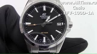 Обзор.  Мужские наручные часы Casio Edifice EFV-100D-1A