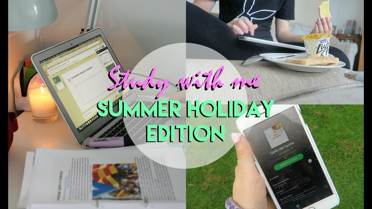 Study With Me: Summer Holiday Edition!   Eve - YouTube