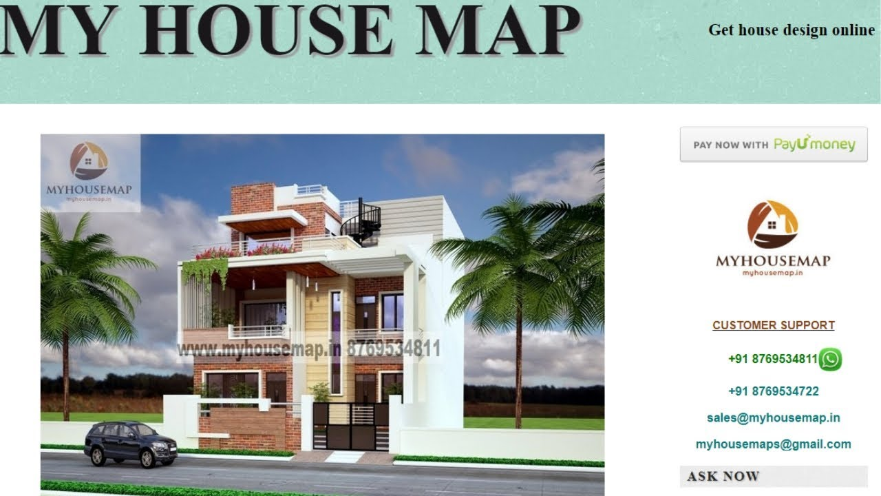 My House Map Online House Design Service Provider Youtube
