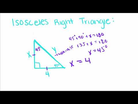 Introduction To Geometry - 11 - Special Right Triangles