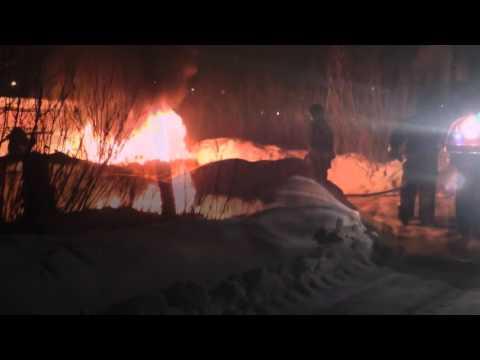 Назарово, сгорел автомобиль ваз 2114. 03.03.2016. жесть