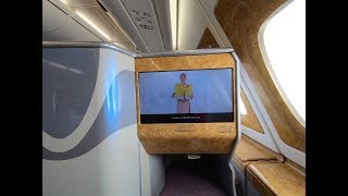 Safety Instructions Video (HD) in arabic & english - Emirates flight A380 - Flight Safety