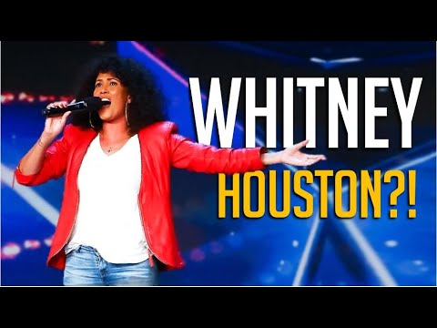 She's SHAKING Nervous But This South African Mom Sings Like Whitney Houston!
