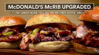 McDONALD's McRIB SANDWICH! I made the Famous McRib Sous Vide!