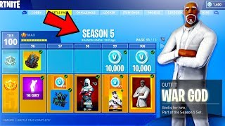 *NEW* Fortnite Season 5 NEWS! - ALL SKINS & ITEMS TIER 100 COMING SOON! in Fortnite Battle Royale