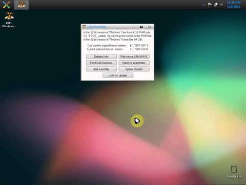 BGT's Tutorials - How to use 4GB of RAM or more in 32bit OS(Windows 7)
