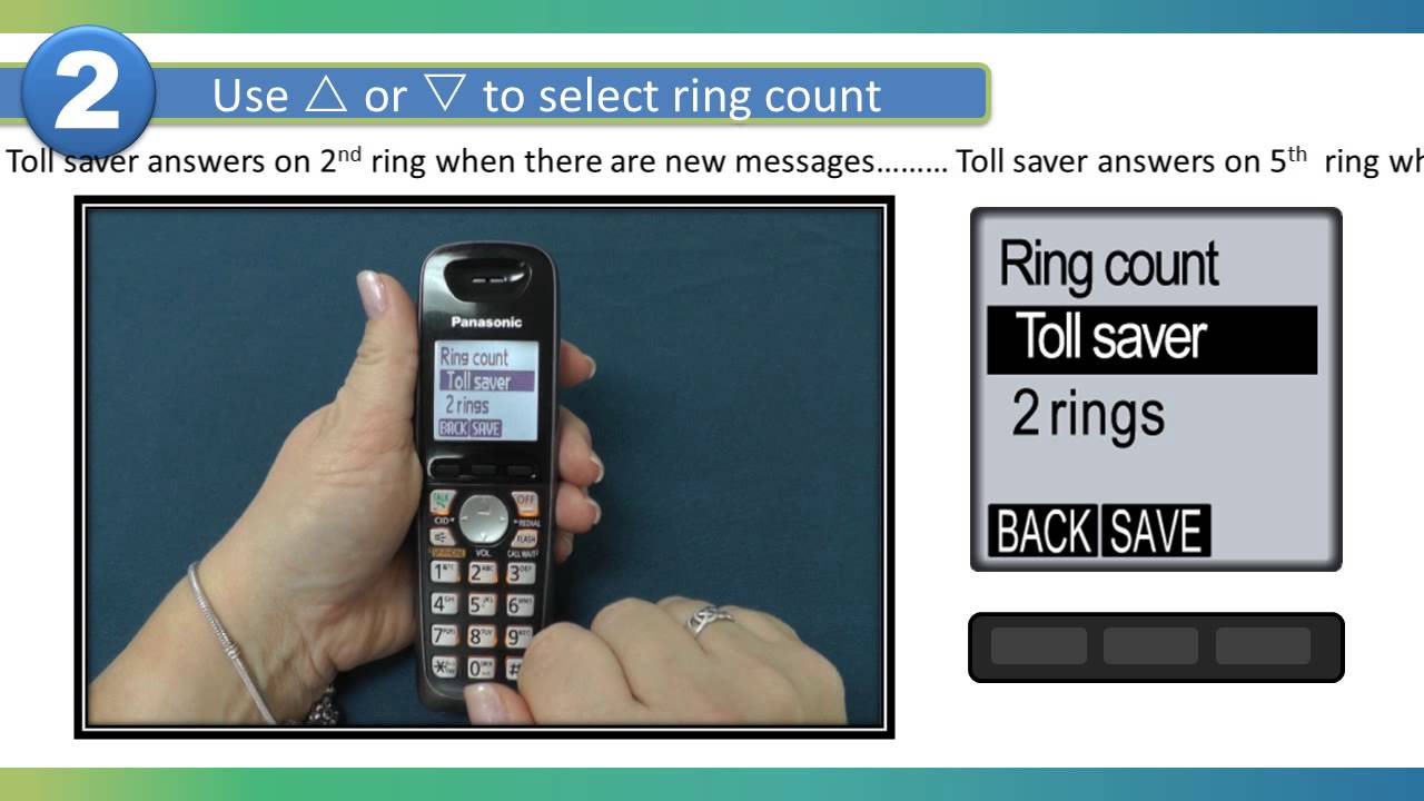 Change Number Of Rings On At T Cordless Phone