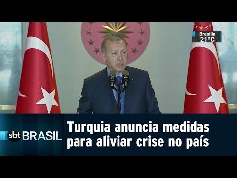 Turquia anuncia medidas para tentar aliviar crise cambial no país | SBT Brasil (13/08/18)