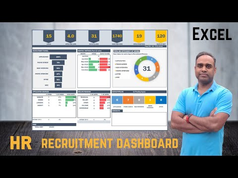Recruitment Manager Excel Template (HR Dashboard Template For Hiring) - V2 - Tour