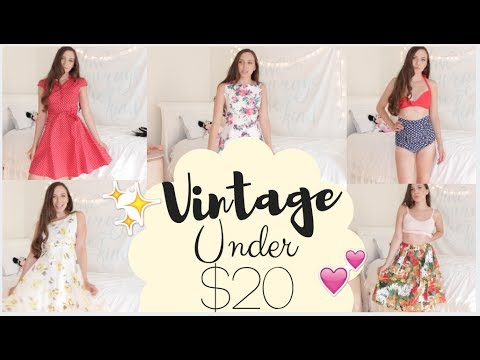 My Girly Vintage Clothing Collection Youtube