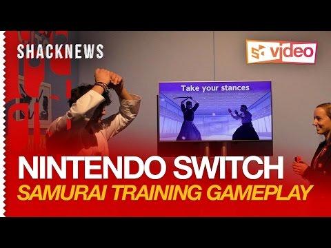 Nintendo Switch: 1-2-Switch Gameplay - Samurai Training