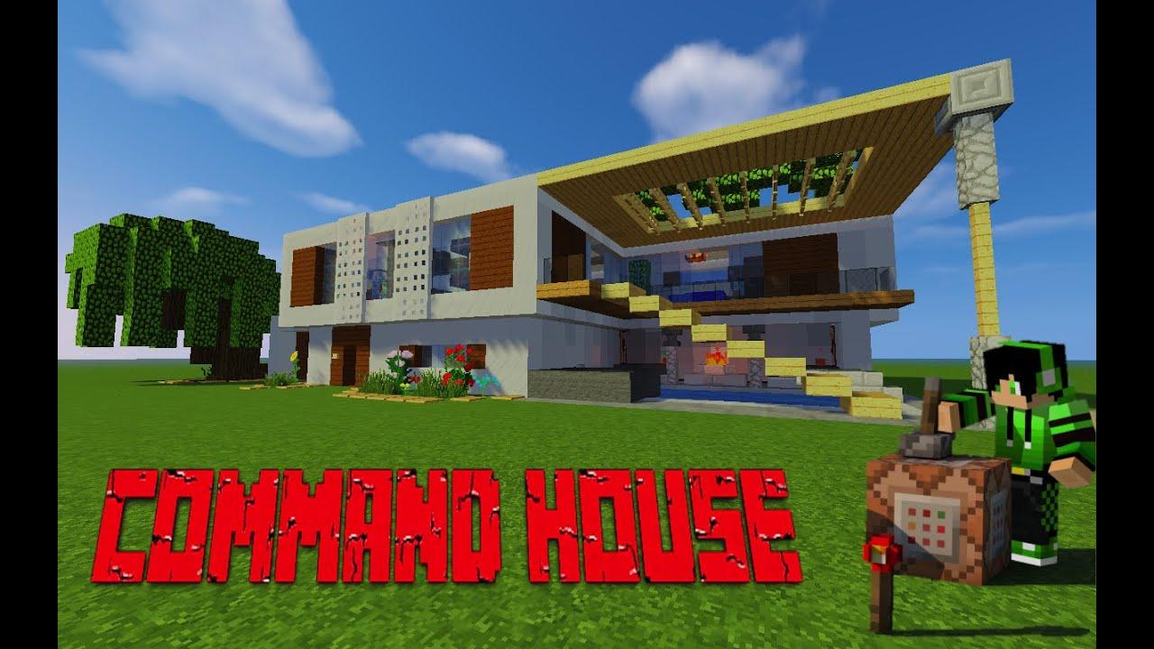 TUTO) Maison moderne partie 2 / Command house MINECRAFT - YouTube