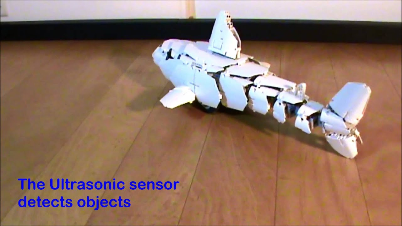 The Shark Hunting Fish Lego Robot Youtube