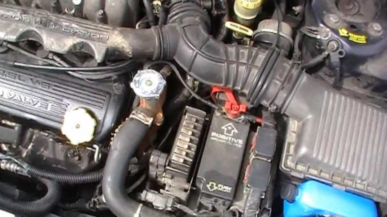 98 Chrysler Cirrus Radiator Hose Repair DIY  YouTube