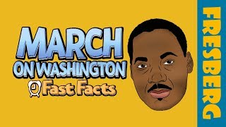 March on Washington for Jobs and Freedom | Black History Fun Facts for Students Cartoon