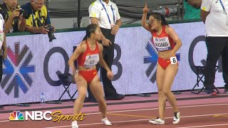 Worst baton pass ever? China's catastrophic 4x100 relay handoff | NBC Sports