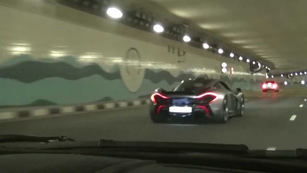 mclaren p1 shoots exhaust flames youtube