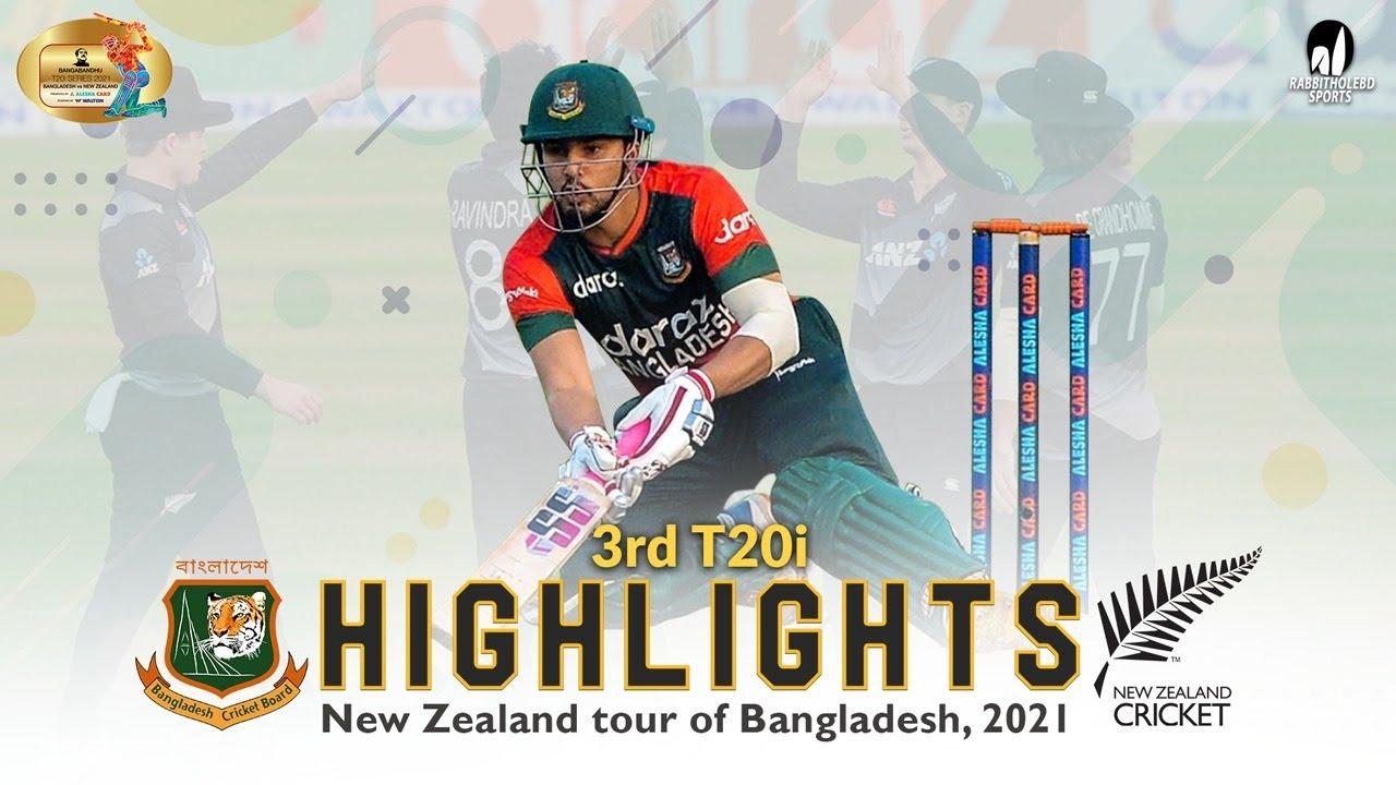 Download Bangladesh vs New Zealand Highlights    3rd T20i    New Zealand Tour of Bangladesh 2021