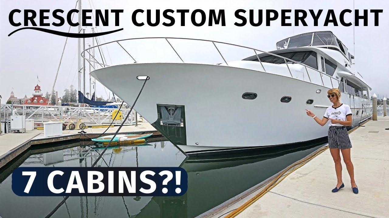 $1,790,000 '97 CRESCENT CUSTOM 96' 2019 REFIT Classic SuperYacht LIVEABOARD Motor Yacht TOUR & SPECS