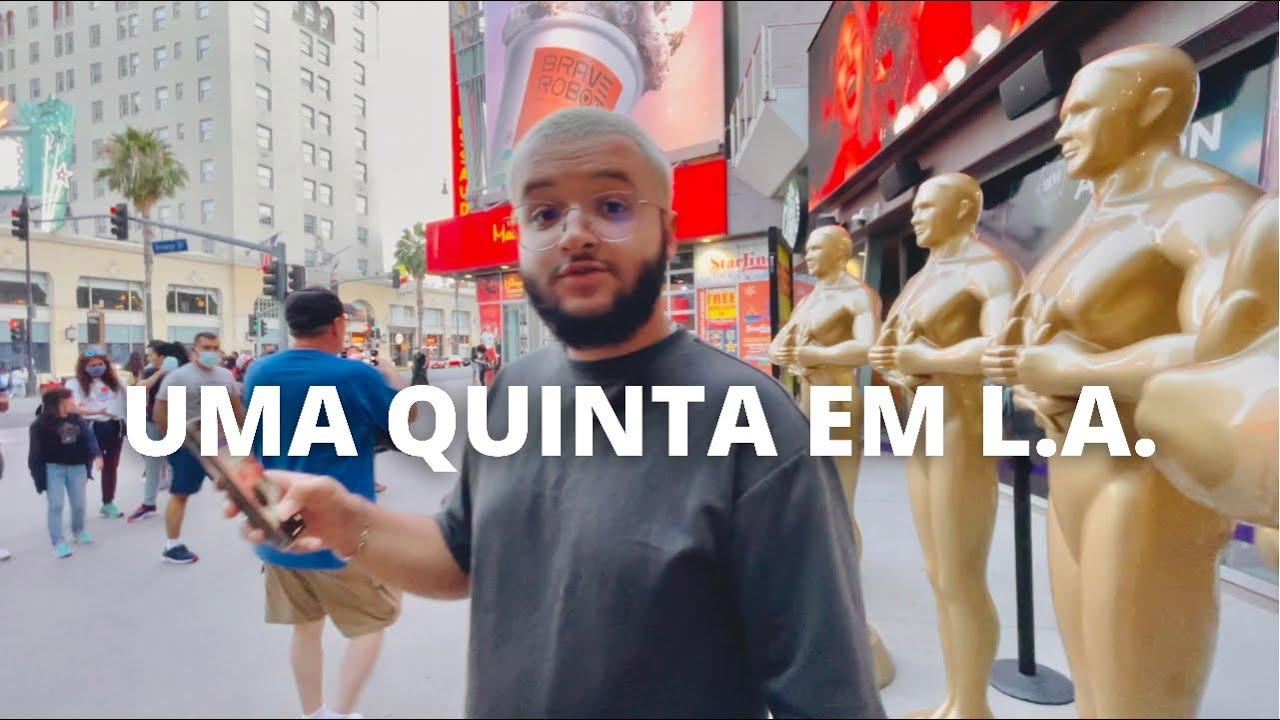 UMA QUINTA-FEIRA EM HOLLYWOOD (Encontramos Rafa Uccman e Lucas Guedez na rua)