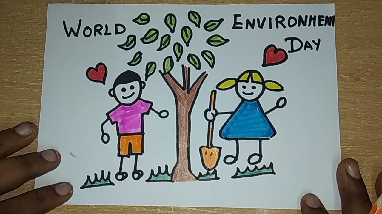 Save Tree Save Earth Drawing How To Draw World Environment Day