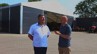 Garaż dla maszyn rolniczych - hala namiotowa, Case study - trąba powietrzna