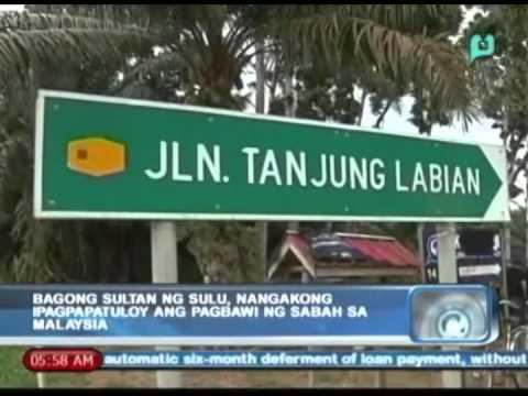Balitaan: Bagong Sultan ng Sulu, nangakong ipagpapatuloy ang pagbawi ng Sabah sa Malaysia