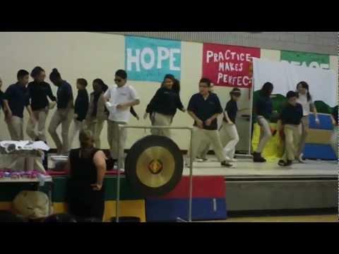 Six Graders of Sunset Ridge School in East Hartford, Connecticut performed as Michael Jackson 2012