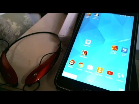 How to Pair HBS-800 Bluetooth Headphones to Samsung Tab 7