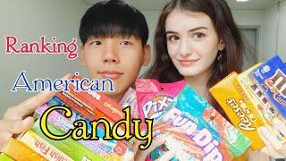 Korean Boyfriend Ranks American Candy/International Couple(amwf)[국제커플] [미국 사탕 먹어보기](샘JJ) Video