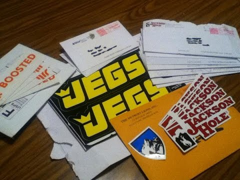 Free Stickers By Mail 15 Companies! Globe, Kicker, Dickies, Jegs, And More!