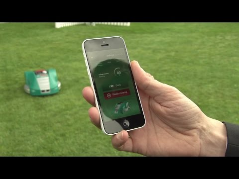 The Latest Garden Tool Is A Smartphone: Bosch's New Robotic Lawnmower Indego Connect