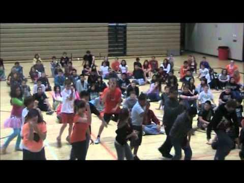 Jerome Middle School International Dance Day 2012 7th Grade