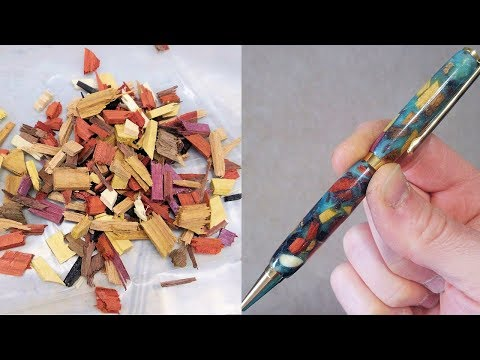 Scrap Wood Epoxy Resin Pen DIY Woodworking