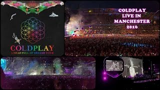 Coldplay Live In Manchester June 2016 (Crazy Fan Jumping Onto The Stage!)