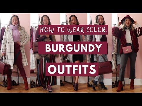 Outfits jeans wine colored 15 Ways